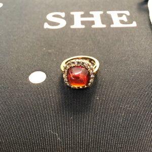 Fun gold costume jewelry ring